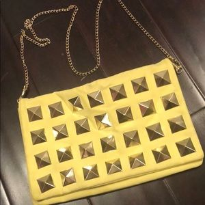 Over-The-Shoulder Purse - H&M - Neon/Studded